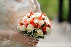 Rose Wedding Bouquet Stock Photos