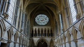 Rose West Window and Ceiling of Chapter House, Stained Glass in