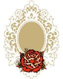 Rose White Lace Frame roja libre illustration