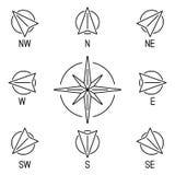 rose wind för kompass Arkivbilder