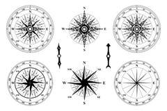 rose wind för kompass Arkivbild