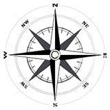 rose wind för kompass Arkivfoto