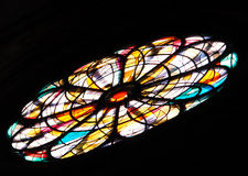 Rose window. A very nice rose window in a church in italy stock photo