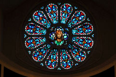 Rose window. Image of a stained glass rose window Stock Images