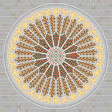 Rose window. Decorated and colorful historic window