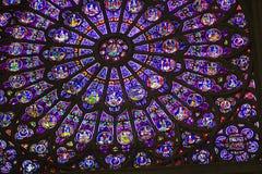 Rose Window av Notre Dame Royaltyfria Foton