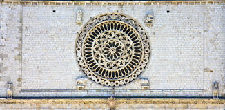 Rose window of the Basilica Stock Photography