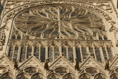 Rose window,cathedral of Amiens Stock Images
