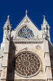 Rose window in the cathedral of Leon Stock Photography