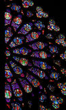 Rose Window in Notre Dame de Paris Stock Photos