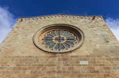 Rose window in Cathedral. Royalty Free Stock Photo