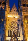 Rose window in the Cathedral of Tours Stock Photos