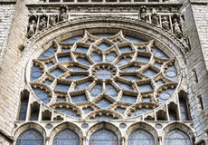 Rose window of Chartres cathedral, France Royalty Free Stock Photos