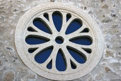 Rose window close up royalty free stock images