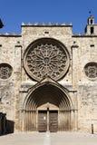 Rose Window des Klosters von Sant Cugat Stockbild