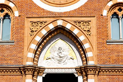 Rose window  italy  lombardy     in  the abbiate    old   church Stock Photos