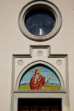 Rose window  italy  lombardy     in  the abbiate    old  jesus Stock Photos