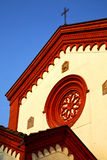 Rose window  italy  lombardy     in  the barza   old   church Royalty Free Stock Photo