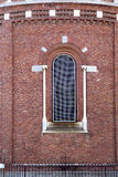 rose window  italy  lombardy     in  the cardano campo      tile Royalty Free Stock Images