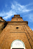 Rose window  italy  lombardy     in  the samarate Royalty Free Stock Images