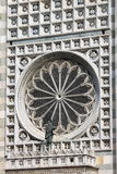 Rose window of Monza cathedral, Italy Stock Photography