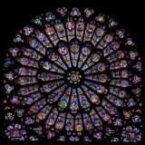 Rose window of Notre Dame Royalty Free Stock Photos