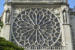 The Rose Window at the Notre Dame Cathedral, Paris, France Stock Images
