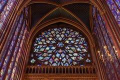 Free Rose Window Of Upper Chapel Of Sainte-Chapelle In Paris, France Royalty Free Stock Image - 183107636