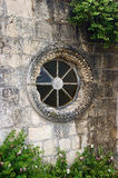 Rose window at the old church Stock Photos