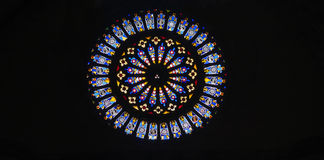Rose window. Royalty Free Stock Photo