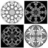 Rose window Set Royalty Free Stock Photo
