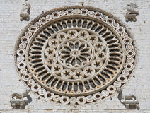 Rose window. St. Francesco Basilica. Assisi. Royalty Free Stock Image