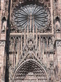 Rose window in Strasbourg cathedral Royalty Free Stock Photography