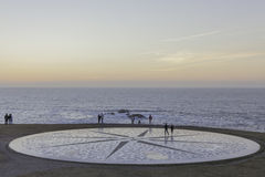 Rose of the winds. Placed to the skirts of Hercules` tower in A Coruña Spain Stock Images