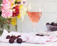 Rose Wine Fotografie Stock