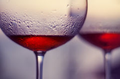 Rose wine on balcony at Boracay Stock Images