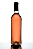 Rose wine bottle. Royalty Free Stock Photo