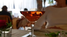 Rose wine, the colors of the south in Ticino royalty free stock image