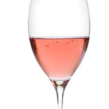 Rose wine in crystal glass Royalty Free Stock Image