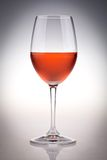 Rose wine glass Stock Images