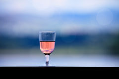 rose wine glass Royalty Free Stock Image