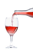 Rose Wine Pour Royalty Free Stock Image
