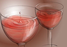 Rose wine Stock Photography
