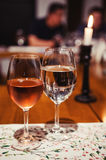 Rose wine and water Royalty Free Stock Photography