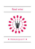 Rose wine Royalty Free Stock Photography