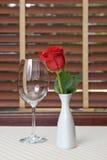 rose wineglass Royaltyfria Bilder