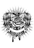Rose and wings Royalty Free Stock Photos