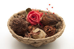 Rose With Potpourri Royalty Free Stock Images