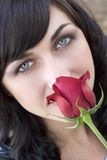Rose Woman. Valentines rose woman Royalty Free Stock Photography