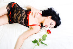 Rose woman Royalty Free Stock Image